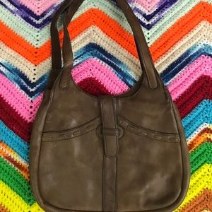 70s Brown Leather Purse